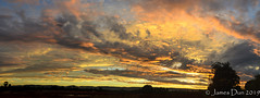Sunset Panorama (James Dun) Tags: sunset clouds layers rain thunderstorms weather event autumn heat humidity flooding lightning colours sky brisbane queensland australia nikon d7000 2019 panorama composite season