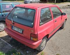 1996 Kia Pride 1.3 GLXi (FromKG) Tags: kia pride 13 glxi red car kragujevac serbia 2019