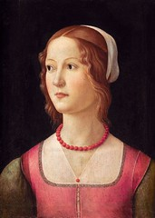 Portrait of a Young Woman, painted by Domenico Ghirlandaio in c. 1490 (jbuddenh) Tags: art portrait woman 1490 domenicoghirlandaio