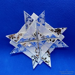 Star (Zsuzsanna Kricskovics) (AnkaAlex) Tags: origami origamistar modularorigami paperfolding whitestar translucentpaper