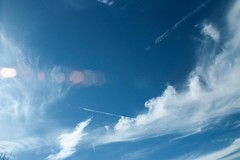 Bright white clouds (katyearley) Tags: fluffy contrast nature sunlight sun white blue clouds