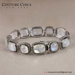 Genuine 75 Ct. Moonstone Gemstone Designer Bracelet Diamond Pave Solid 925 Sterling Silver Jewelry (couturechics.facebook1) Tags: genuine 75 ct moonstone gemstone designer bracelet diamond pave solid 925 sterling silver jewelry