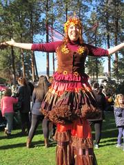 Very tall! (jamica1) Tags: rutland scarecrow festival lions park kelowna okanagan bc british columbia canada stilt walker
