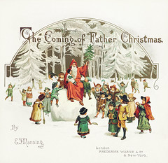 Santa in Christmas (Free Public Domain Illustrations by rawpixel) Tags: por antique art boy children christmas colorful crowded decor decoration drawing elizaf elizafmanning father girl greeting happy illustration kids merry name old play playful publicdomain santa santaclaus season seasonal snow snowball snowy vintage winter xmas