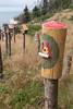 Fanciful Birdhouse (peterkelly) Tags: digital canon 6d northamerica canada newfoundlandlabrador cavendish birdhouse pole whitepoint trinitypoint yellow bird house birdhouses craft