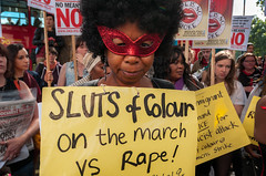 120922 London Slutwalk 219 (hoffman) Tags: activism activist campaign campaigner campaigning crowd demo demonstrate demonstrater demonstrating demonstration demonstrator feminist group horizontal lady liberation march marching placard woman women slutwalk documentary reportage outside streets outdoors political politics anti walking rally protesting protests protest socialissues slutwalklondon feminism harassment rape sexualissues sluts slut dress victim victimisation rights womensrights empower empowerment female solidarity femalesolidarity masked sexuality black uk gbr
