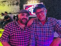 IMG_E8176 (danimaniacs) Tags: guy man smile beard scruff colorful hat cap gay couple