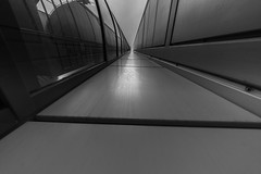 The intersection point is the common vanishing point of the straight lines. (rainerralph) Tags: berlin perspektive architektur fe401224g rudolfvongneistgasse berlinmitte abstract architecture sony schwarzweiss sonyalpha a7r3 blackwhite