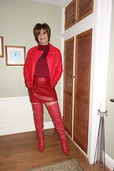 Friday 15th February (Victoria HS) Tags: t girl gurl hot horny sexy long legs fishnets red thigh high boots leather mini skirt jacket tv transvestite cd crossdresser cock sucker anal love eggs