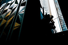 neo-noir cityscape shadow mode__ (Ardan⋆) Tags: neonoir buildings city cityscape tall high silhouette outside outdoors explore walk photography otherworld reflection glass concrete shadow adventure travel landscape urban sculpture