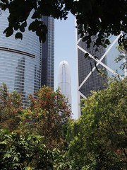 View of Two International Finance Centre from Hong Kong Park (procrast8) Tags: hong kong china park icbc ifc tower citibank plaza international finance centre bank