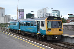 Arriva Trains Wales Pacer 142010 (Will Swain) Tags: cardiff queen street station 11th august 2018 train trains rail railway railways transport travel uk britain vehicle vehicles cymru west wales north europe atw valley lines arriva pacer 142010 class 142 010
