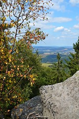 viewpoint by the rock :) (green_lover (I wait for your COMMENTS!)) Tags: rock trees tablemountains poland view landscape green explore