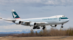 B747 | B-LJC | ANC | 20150510 (Wally.H) Tags: boeing 747 boeing747 b747 bljc cathaypacificairways cargo anc panc anchorage airport