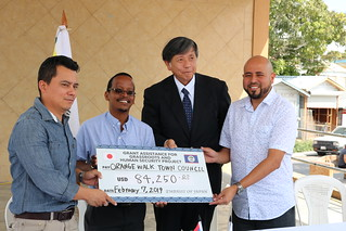 Japan Grassroots Human Security Grant Donations to Orange Walk Town Council