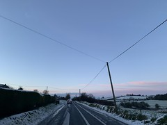 Snow Day - Phone Lines (firehouse.ie) Tags: countycork countryside rural rutal sky highway ireland snowscape snow roadway dusk