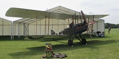 Royal Aircraft Factory BE2e Replica A2943 on static display at RAF Cosford Airshow 10.06.18 (Trevor Bruford) Tags: royal aircraft factory be2e replica a2943 raf cosford airshow shropshire west midlands 100 years airplane planes aviation biplane