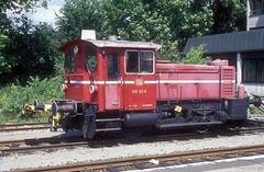 335 123  Tübingen  10.08.93 (w. + h. brutzer) Tags: 333 eisenbahn eisenbahnen train trains deutschland germany railway diesellok dieselloks köf lokomotive locomotive zug db webru analog nikon 335