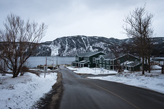 Edge of Town (Aymeric Gouin) Tags: canada québec newfoundland maritime norris point mountain montagne road route village ville city nature landscape paysage paisaje landschaft winter hiver neige snow fujifilm xt2 aymgo aymericgouin