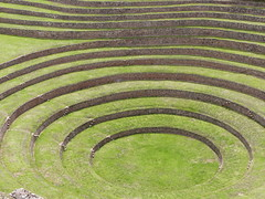 Inca culture terraces (gerrygoal2008) Tags: green agriculture incas steps experiments process engineering moray study perou peru modeling sample circle cuvette geometry cercle geometric greens visualart terrazas terrasses art knowledge experience essais growing selection select productivity trys culture terraces temperature control