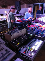 Setting Up (diskojez) Tags: synth synths music tech pickle factory london cubic space collective steevio suzybee