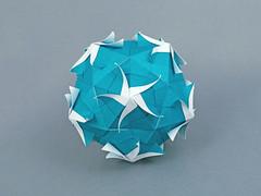 Nerine (masha_losk) Tags: kusudama кусудама origamiwork origamiart foliage origami paper paperfolding modularorigami unitorigami модульноеоригами оригами бумага folded symmetry design handmade art