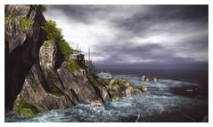 Ukivok I (Saga Mea) Tags: landscape sea island ukivok sl secondlife seascape nature virtualworld digitalart 3dart clouds