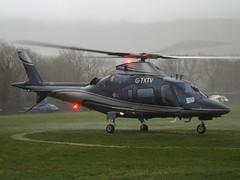 G-TXTV Agusta A-109E Power Helicopter (Arena Aviation Ltd) (Aircaft @ Gloucestershire Airport By James) Tags: cheltenham helipad gtxtv agusta a109e power helicopter arena aviation ltd egbc james lloyds