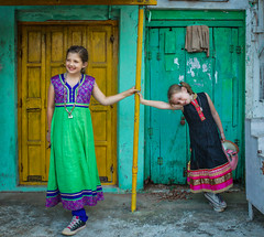 Kids in India (Trey Ratcliff) Tags: india stuckincustoms treyratcliff portrait street photography fashion travel pose dress color colour children girls