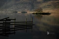 Crummock water first light (Lumen01) Tags: water lake island light d800 on1 on1raw nikon lakedistrict uk crummockwater cumbria river dawn