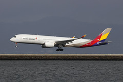 HL8079, Airbus A350-900, Asiana, San Fransisco (ColinParker777) Tags: hl8079 airbus a350 350 a359 a350900 350900 359 117 a350941 aircraft airliner airplane aeroplane plane aviation fly flying flight land landing touchdown finals approach travel asiana aal oz airlines airways air usa us america united states norcal nocal san fransisco california sfo ksfo canon 5ds 5dsr dslr camera 100400 l lens zoom telephoto pro singlets sharklets hills sea runway bay sunny