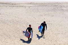 Surfers on the east beach of Enoshima : 江の島東浜にて (Dakiny) Tags: 2019 spring march japan kanagawa fujisawa enoshima katasekaigan shonancoast city street people sea sky blue bluesky nikon d750