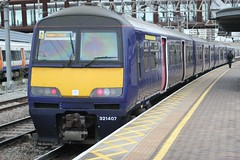 Abellio Greater Anglia . 321407 . Stratford Station , East London . Monday 14th-January-2019 . (AndrewHA's) Tags: stratford station eastlondon railway abellio greater anglia class 321 electric multiple unit emu 321407 1k46 liverpool street southend victoria essex dark blue livery brel york works first capital connect