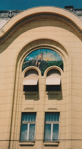 Fenêtres hongroises, art nouveau, Szeged, comitat de Csongrad, Hongrie.