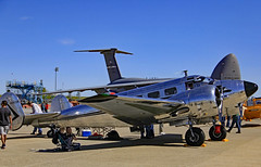 Travis AFB Airshow 2019 1954 Beech D18S N3532B (Walt Barnes) Tags: canon eos 60d eos60d canoneos60d wdbones99 airfield airstrip aerodome aeronautics aerodynamics flight afb airforcebase airshow display travis travisafb calif ca beechcraftmodel18 beech d18s