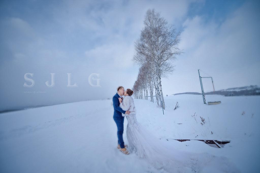 海外婚紗攝影,日本北海道美瑛婚紗,七星之樹婚紗,雪國雪地雪景婚紗,MILD SEVEN之丘婚紗