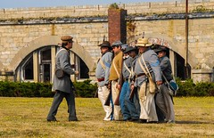 Atten-Hut!!! (rodnorris99) Tags: soldiers civilwar reenactment fortadams newport rhodeisland nikon d200 periodactors candid