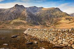 Cwm Idwal (Explored January 2019) (another_scotsman) Tags: cwmidwal snowdonia wales landscape lake mountain wall stone rock