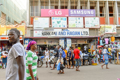 Nakani and Hagan (Francisco Anzola) Tags: ghana accra africa city market buildings people shops stalls signs streetlife streetphotography street