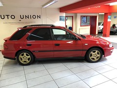 IMG_0320 (deeelux) Tags: red subaru impreza wagon 2000 turbo uk spec 1997 r981gfw