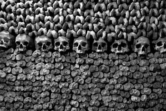 L'empire de la mort  -  The empire of the death (Philippe Haumesser (+ 7000 000 view)) Tags: catacombes catacombs ossuaire ossoary crânes skulls paris france noiretblanc blakandwhite monochrome sonyilce6000 sony 2018
