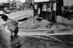 from now on 654 (soyokazeojisan) Tags: japan osaka city street bw people monochrome analog olympus m1 om1 21mm film trix memories 1970s