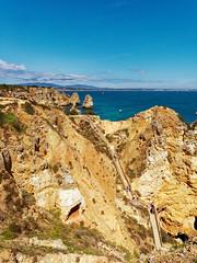 P1020315_DxO (orciel95) Tags: lagos algarve portugal océan mer sea eau water falaise rocher stone colors green blue vert bleue