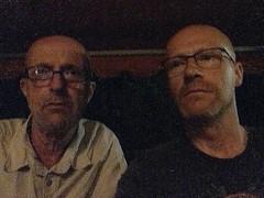 My Baby Brother and Me (Wolfgang Bazer) Tags: selfie portrait porträt glatzköpfe bald baldies baby brother kleiner bruder photo picture gone wrong missraten