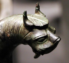 Lion-headed cauldron handle (calmeilles) Tags: london england unitedkingdom ashurbanipal britishmuseum assyria ancienthistory archaeology middleeast nineveh