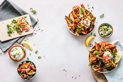 Bowl cooking cuisine - Credit to https://homegets.com/ (davidstewartgets) Tags: bowl cooking cuisine cutting board delicious dish eat epicure food photography styling guacamole healthy herbs lemon meal nutrition salad slices still life tasty tomatoes vegetable