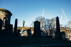 Emancipation with Contrasts (natestation2) Tags: uk scotland edinburgh canon 6d cv cosina voigtlander 28mm f28 slii lincoln president kirkyard emancipation statue cranes