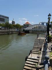 SingaporeRiverColonialDistrict002 (tjabeljan) Tags: singapore asia colonialdistrict singaporeriver colemanbridge oldparliament fullertonhotel themelrion raffles victoriatheatre clarkquay marinabay