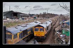 Three GBRf freights & a R.O.G. F.G.W. H.S.T. move at Thornhill - 0465 (Views in Camera) Tags: thornhill midlandmainline oldroad gbrf greatbritainrailfreight class66 66709 sorrento 4e00 londongatewayviadoncastertomasbroughnwterminal maritimemsclivery mediterraneanshippingcompany 66765 6m73 doncasterupdecoytototonnorthyard 66744 crossrail 4z81 masbroughnwgbrftofelixstowenorthgbrf nw newellandwrightcontainerservices rog railoperationsgroup gwr greatwesternrailway firstgreatwestern class43 hst highspeedtrain 43010 43190 5v74 botanicgardensdmudtostphilipsmarshhstd dieselmultipleunitdepot highspeedtraindepot ecs emptycoachingstock driverroutelearning coach41018 coach40718 coach42024 coach42026 coach44034 tpe transpenninetrains class185 arrivalivery 1b74 manchesterairportviasheffieldtocleethorpes robertwalkerltd carhousecolliery carrhousegasworks parkgateironsteelcoltd therotherhamforgerollingmillscoltd beatsonclarkltd northfieldwarehouse llwalkerltd sheffieldpsb signalfeather signals0424 signals0428 signals0427 signals0431 signals0433 yorkroc bnqdiystore bunningswarehouse homebasediy