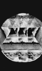 aberration (BleakView) Tags: yashica fx3 bleakview bleak blackandwhite bw pyramid brisbane hallucinations hallucinate kaleidoscope flicker blink tree nature filmgrain film pagan pattern doomer